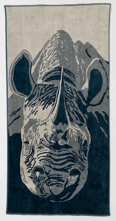 Black Rhino Head